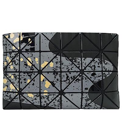 ISSEY MIYAKE三宅一生BAOBAO幾何亮面4x6傳統繪畫手拿包(黑)