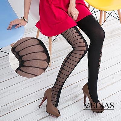 美娜斯 兩側簍空顯瘦絲襪/褲襪(#409)