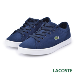 LACOSTE 女用休閒帆布鞋-藍色