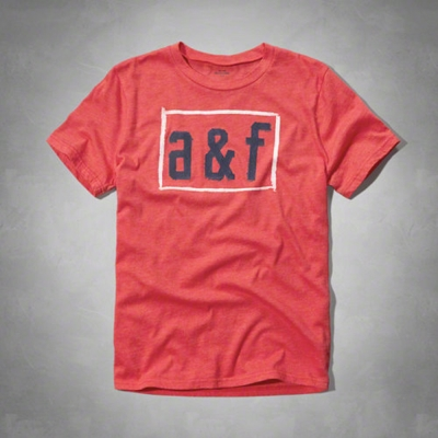 A&F   KIDS(16)水彩LOGO短T恤(紅)-童版