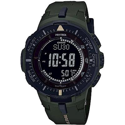 CASIO卡西歐 PRO TREK 太陽能登山錶-軍綠(PRG-300-3DR)