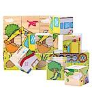 兒童認知玩具9粒六面畫立體拼圖-3入組
