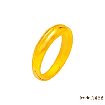 J'code真愛密碼 生生不息黃金男戒指
