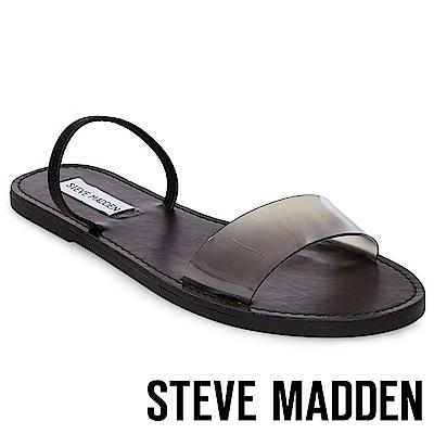 STEVE MADDEN-DASHA-一字果凍平底涼鞋-黑色