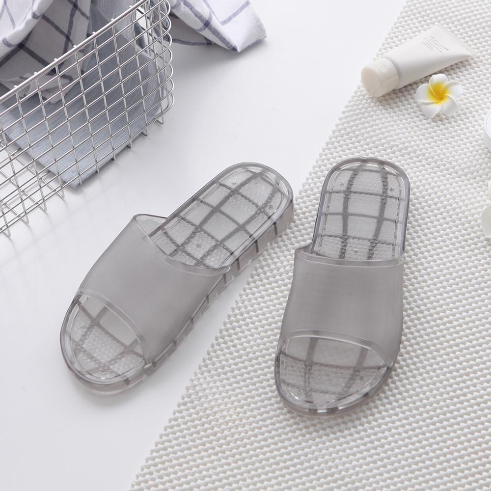 透明感色系-粉漾家居浴室拖鞋-黑色