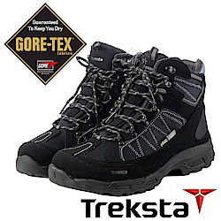 Treksta 男 Gore-Tex 防水高筒登山鞋『黑咖啡』KR17HM