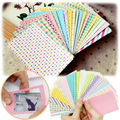 kiret韓國DIY相框拍立得相片邊框貼紙20入-愛心Pastel