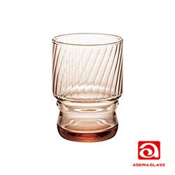 日本ADERIA 強化水杯 235ml-棕(3入)