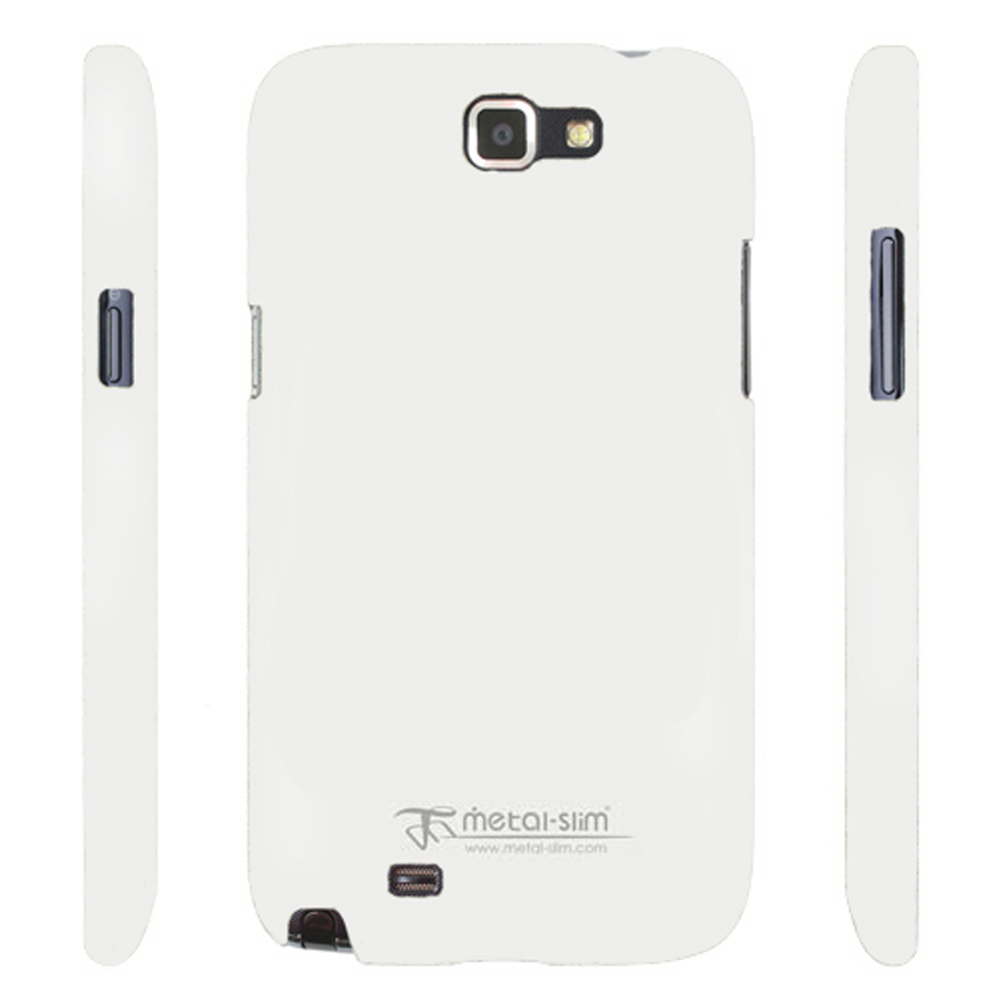 Metal-Slim Samsung Galaxy Note 2 UV白保護殼