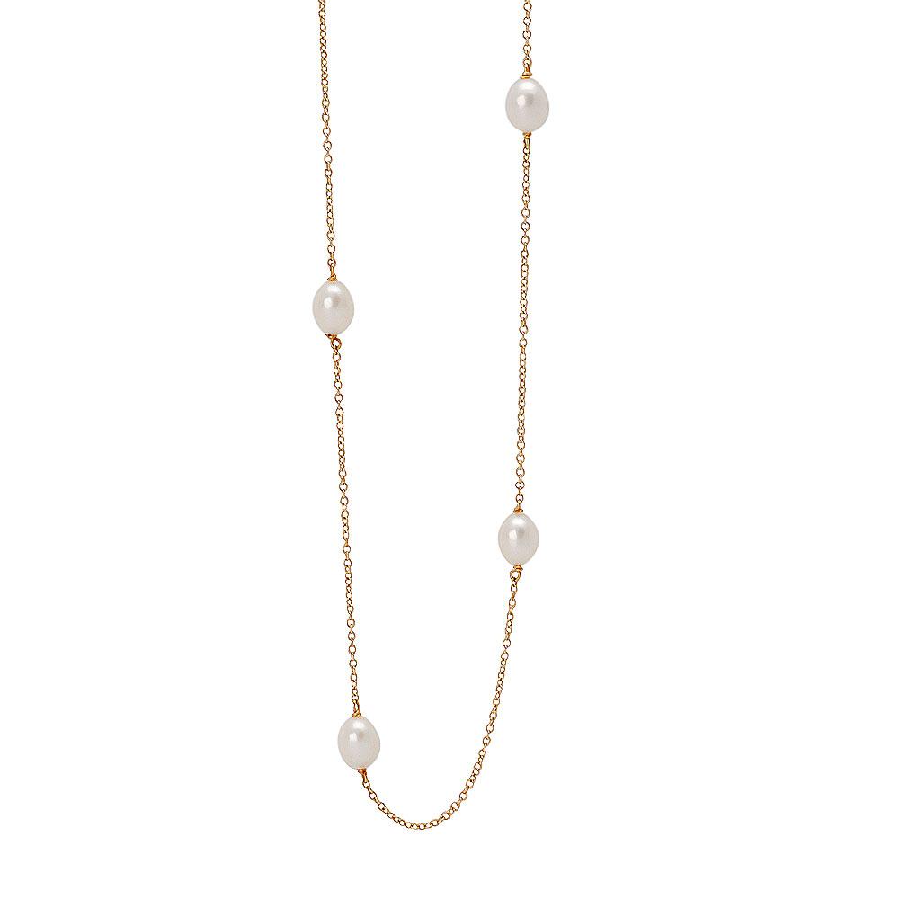 TIFFANY&Co.Elsa Peretti系列18K金珍珠項鍊金