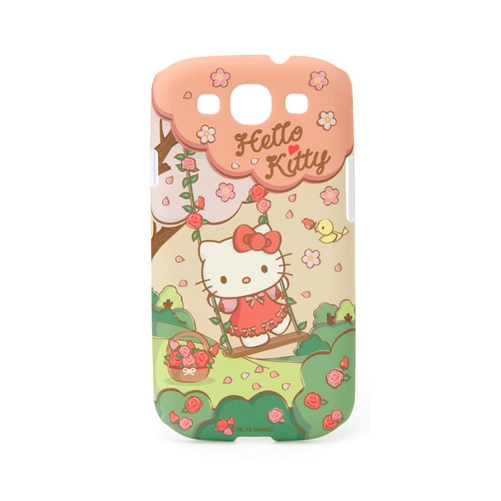 《Sanrio》HELLO KITTY 春日鞦韆 三星GALAXY S3 i9300保護套