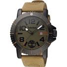 Timberland 探險玩家潮流時尚腕錶-綠x卡其/48mm
