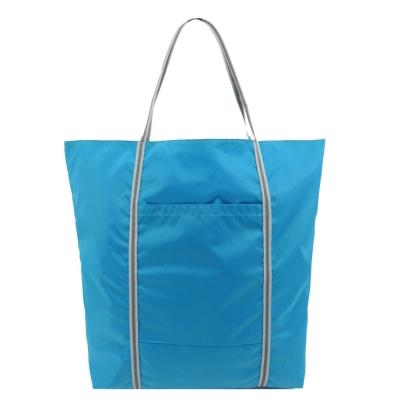 agnes b. 尼龍雙槓購物袋-藍
