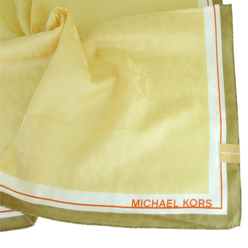 MICHAEL KORS MK浮水印大帕巾(卡其金)