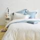 Cozy inn 簡單純色-白 單人三件組 200織精梳棉薄被套床包組 product thumbnail 1