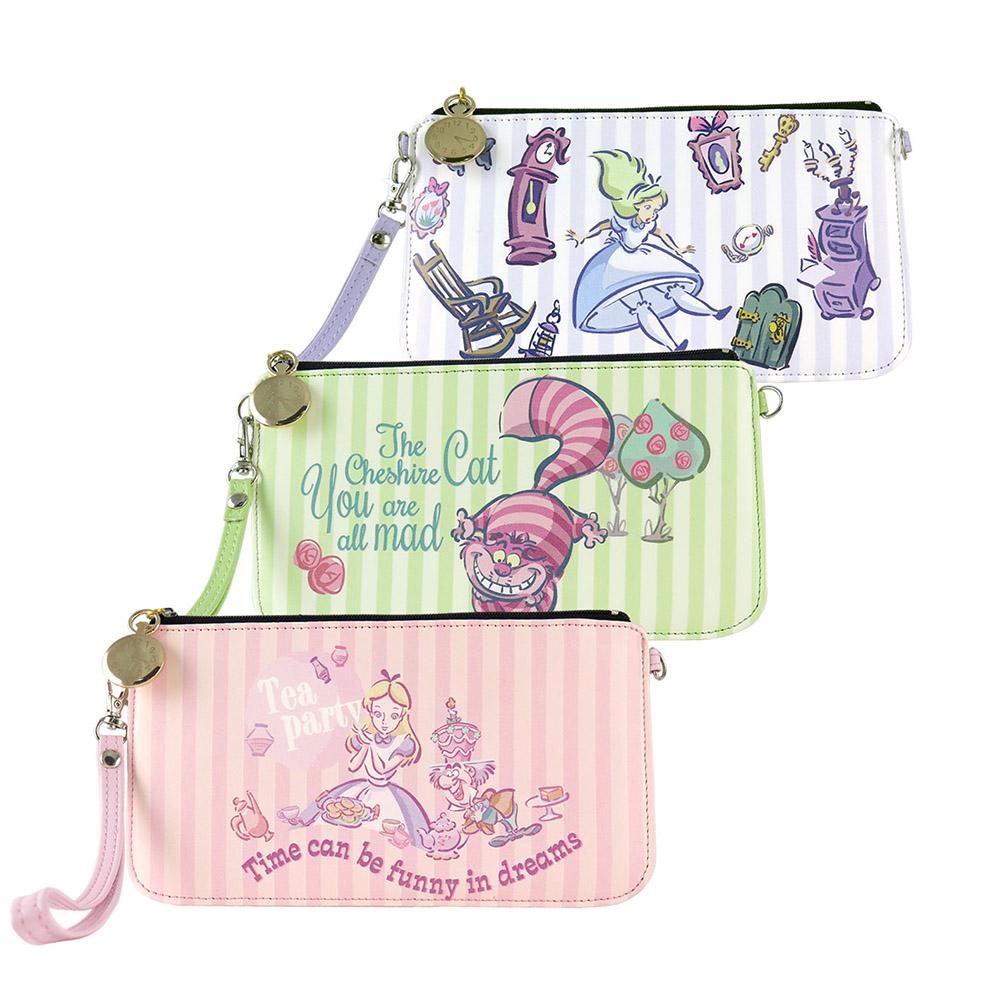 Disney迪士尼愛麗絲夢遊仙境.妙妙貓橫式手機袋
