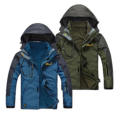 美國熊  保暖 抗汙 防水 機能型兩件式加厚風衣