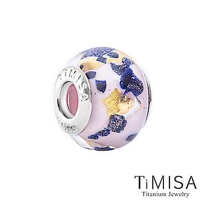 TiMISA 地球-粉(11mm)純鈦琉璃 墜飾串珠