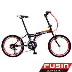 【FUSIN】魅力風格 F104 20吋24速摺疊車(服