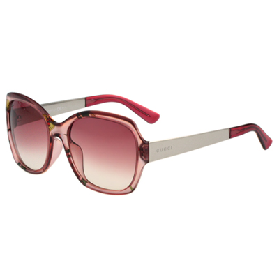 GUCCI-花卉絲巾 太陽眼鏡(粉紅色)