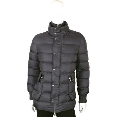 MONCLER 深灰色雙口袋設計羽絨外套(男款)
