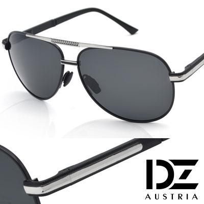 DZ 威弗列德 抗UV 偏光太陽眼鏡墨鏡(黑框灰片)