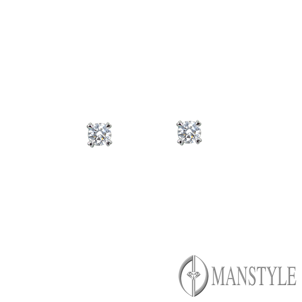 MANSTYLE 甜蜜的心情 0.40ct 鑽石耳環