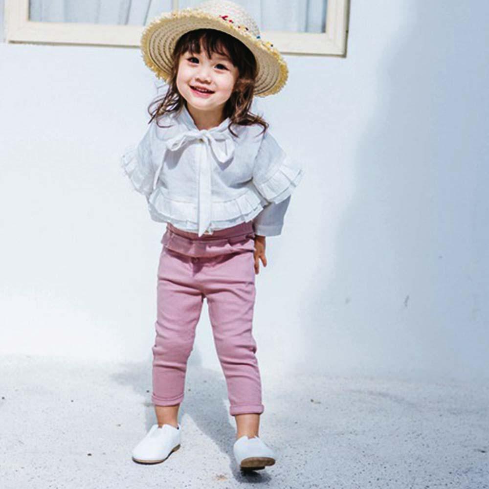 Baby unicorn 粉紅素面口袋長褲