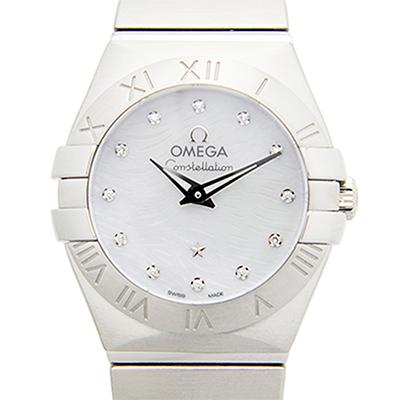 OMEGA 歐米茄 Constellation 星座系列短波紋真珠母貝腕錶-24mm