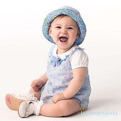 les enphants baby花漾甜心假二件式連身裝 淺藍