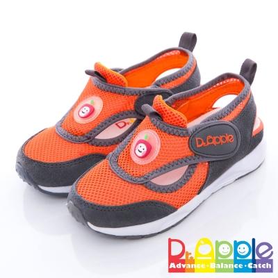 【Dr. Apple 機能童鞋】雙色拼接輕量透氣童鞋 灰