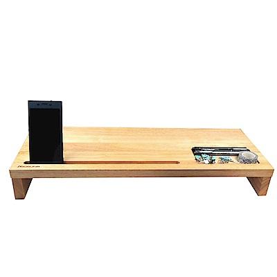 NICELINK森呼吸 SFW全實木多功能螢幕架+手機+平板架+鍵盤收納架