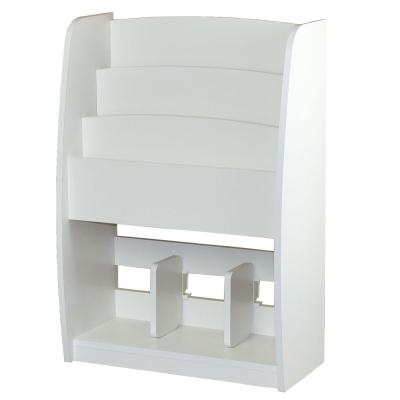 白色階梯雜誌架/木製雜誌架/雜誌收納架/調整式收納架