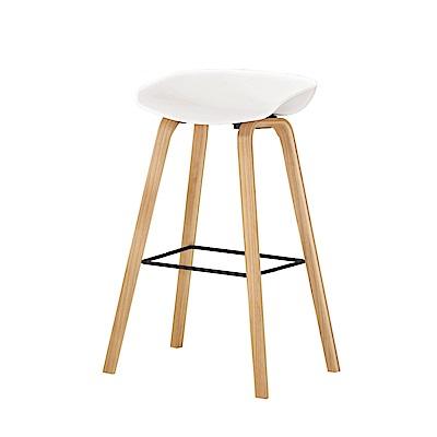 品家居 朵莎柏造型吧台椅2入組合(三色可選)-48x42x81cm免組