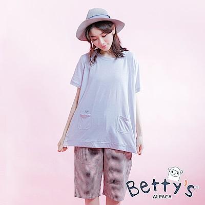 betty's貝蒂思 百搭格紋褲(咖啡)