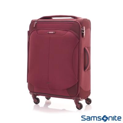 Samsonite新秀麗28吋Stingray多功能收納可擴充布面TSA海關鎖行李箱-酒紅