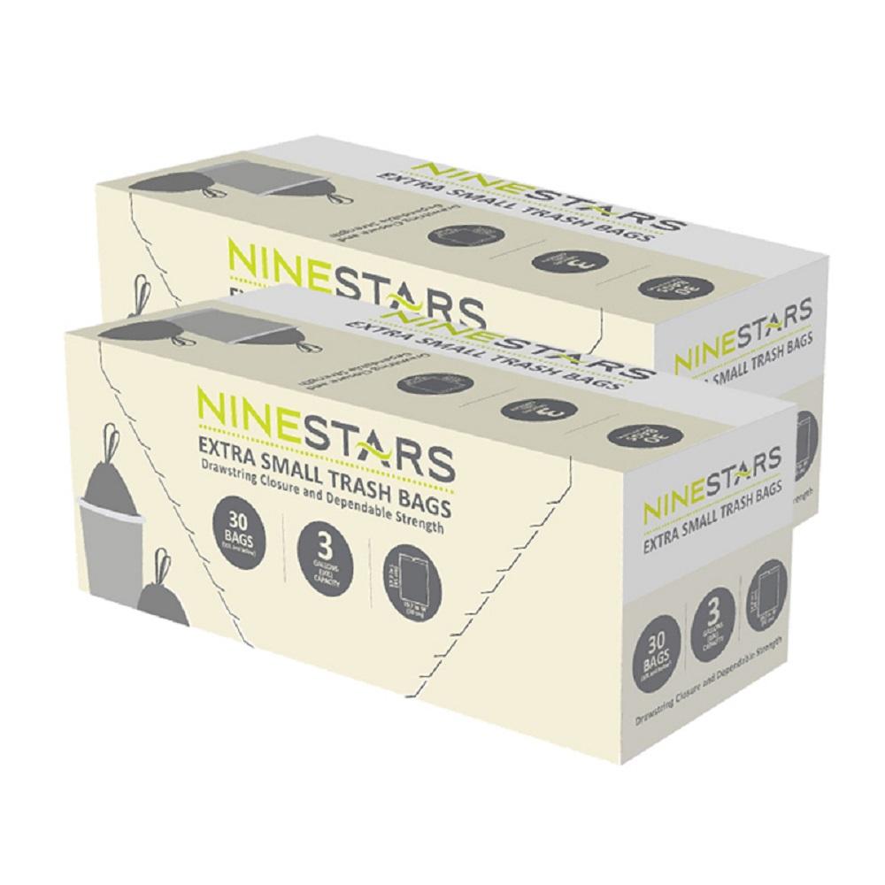 美國NINESTARS專業收納垃圾袋12L-超值二入組