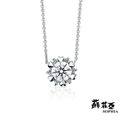 蘇菲亞SOPHIA - 費洛拉0.20克拉八心八箭FVVS1鑽石套鍊