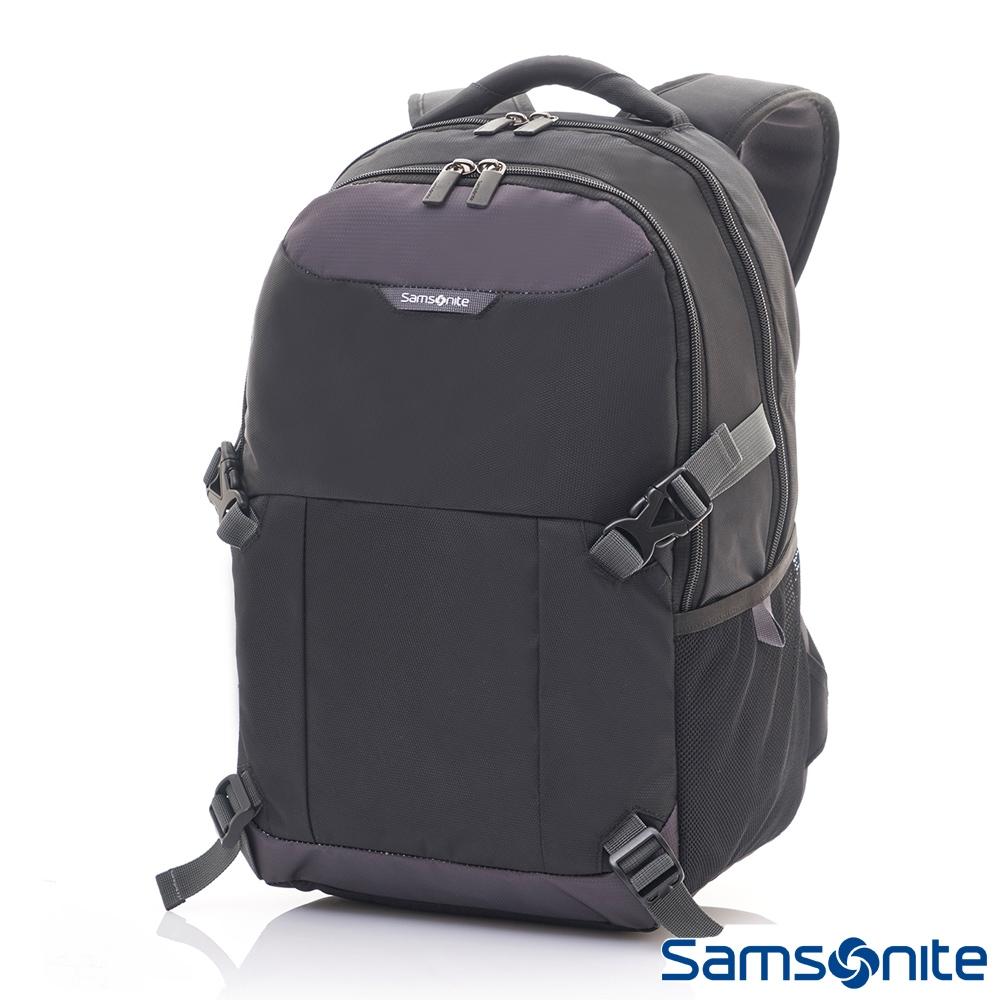 Samsonite新秀麗 ALBI N6輕量商務舒適減壓筆電後背包(黑/灰)
