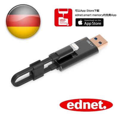 曜兆EDNET iPhone USB3.1讀卡擴充AppleLightning充電線10cm
