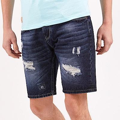 CACO-羅紋牛仔短褲(兩色)-男【OAR046】
