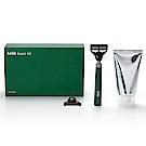 韓國 bläk 經典刮鬍刀禮盒(刮鬍刀+柔順刮鬍膏+刮鬍刀片) - 綠