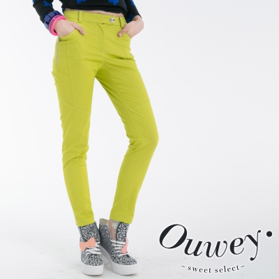 OUWEY歐薇-口袋窄管褲-共2色