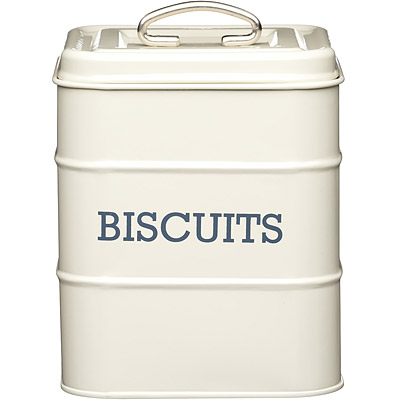 KitchenCraft 復古餅乾密封罐(奶油黃)