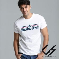 航海風設計字體磨毛水洗T恤 (共二色)-GraphicSpace
