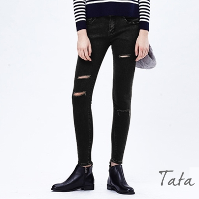 破洞牛仔褲-TATA