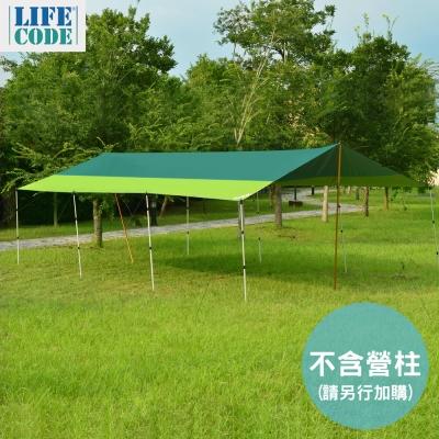 LIFECODE 800x500cm兩用塗銀布/抗UV天幕帳 (綠色)