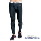 SUPERFEATURING 專業跑步三鐵Training運動壓縮緊身褲 黑色-急