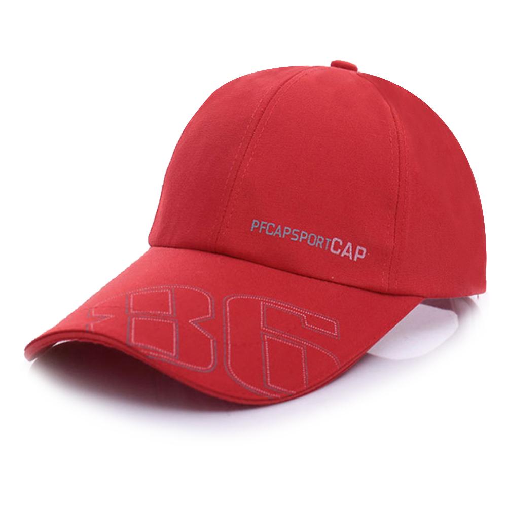 幸福揚邑 防曬防紫外線防風舒適透氣戶外運動86造型棒球帽鴨舌帽-紅