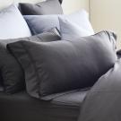 Cozy inn 簡單純色-鐵灰-200織精梳棉枕頭套-2入